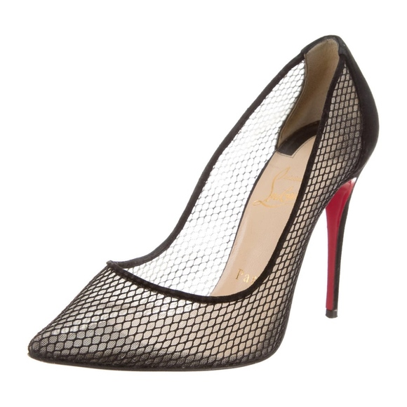 sports shoes 4f4e5 99658 Christian Louboutin Mesh Follies Resille Pumps